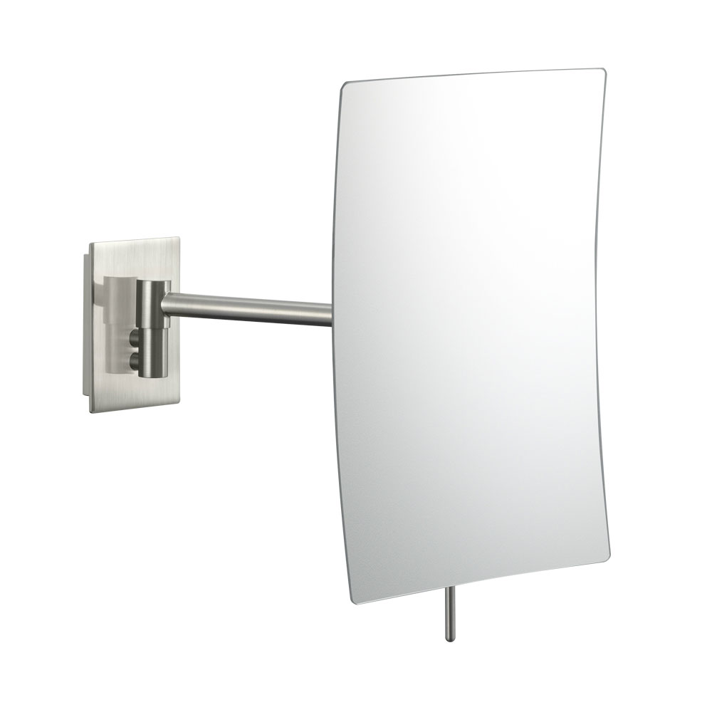 Wall mounted makeup mirror rectangular 3x in wall mirrors for Wall mounted mirror