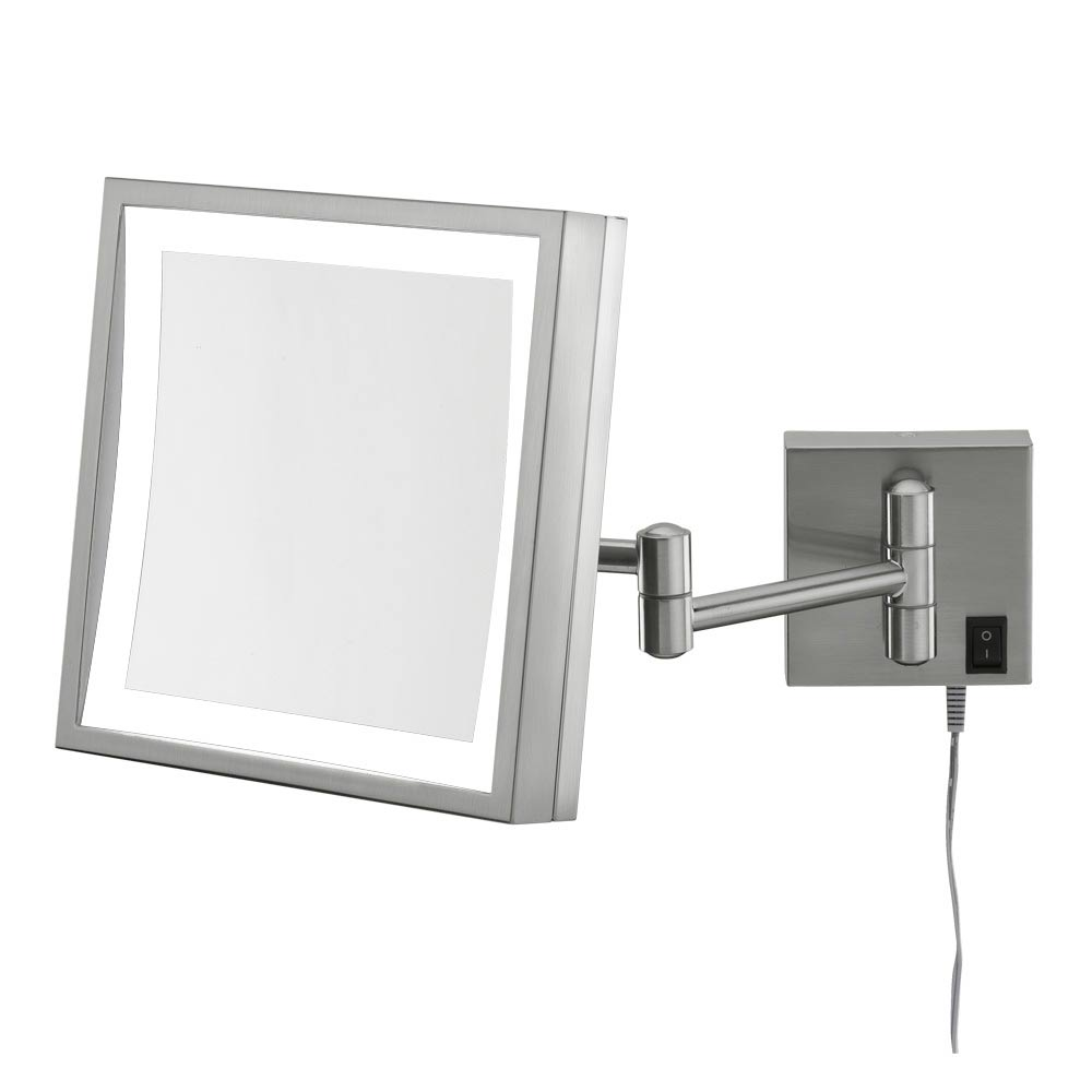 Wall Mount Vanity Mirror wall mounted makeup mirror - square 3x in wall mirrors