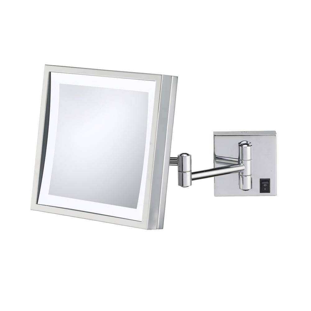 Wall mounted makeup mirror square 3x in wall mirrors amipublicfo Images