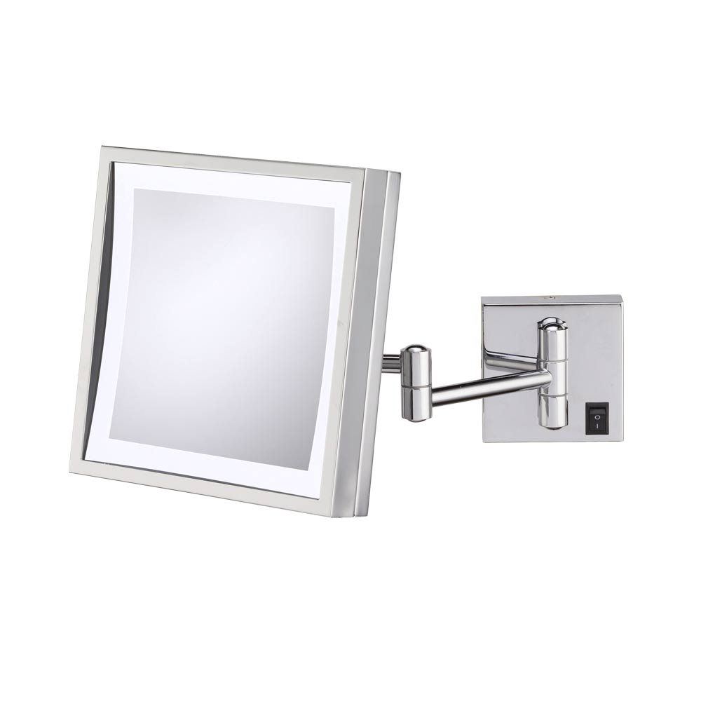 Lighted Wall Mount Makeup Mirror wall mounted makeup mirror - square 3x in wall mirrors