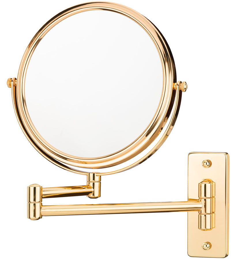 Wall Mounted Makeup Mirror Double Arm In Wall Mirrors