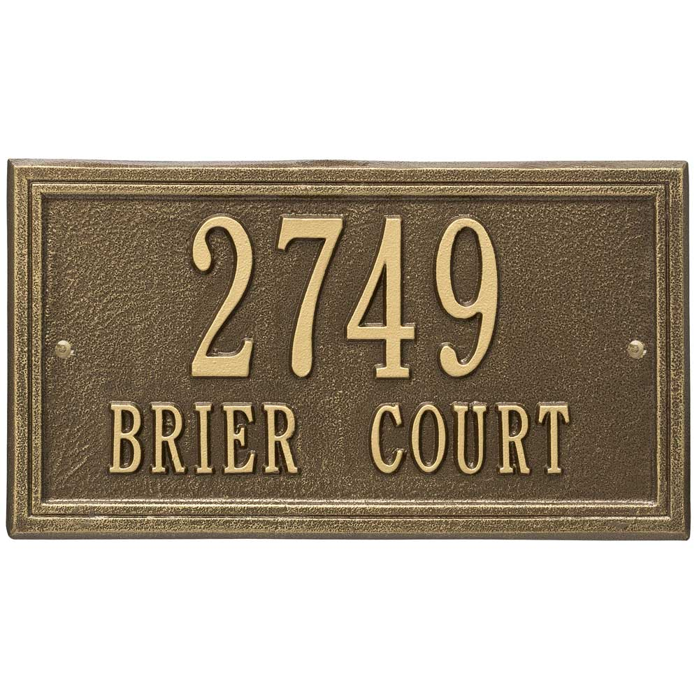 wall mounted standard address plaque in wall address plaques. Black Bedroom Furniture Sets. Home Design Ideas