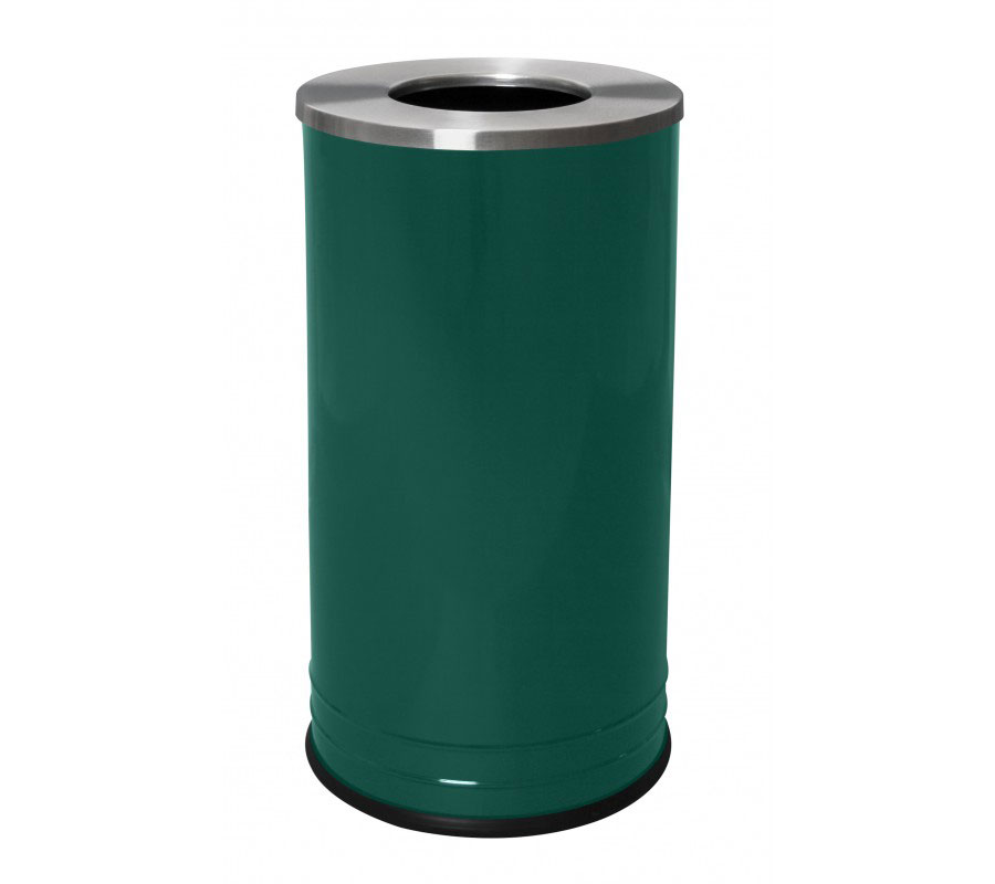 Waste Receptacle Stainless Steel Lid In Stainless Steel Trash Cans