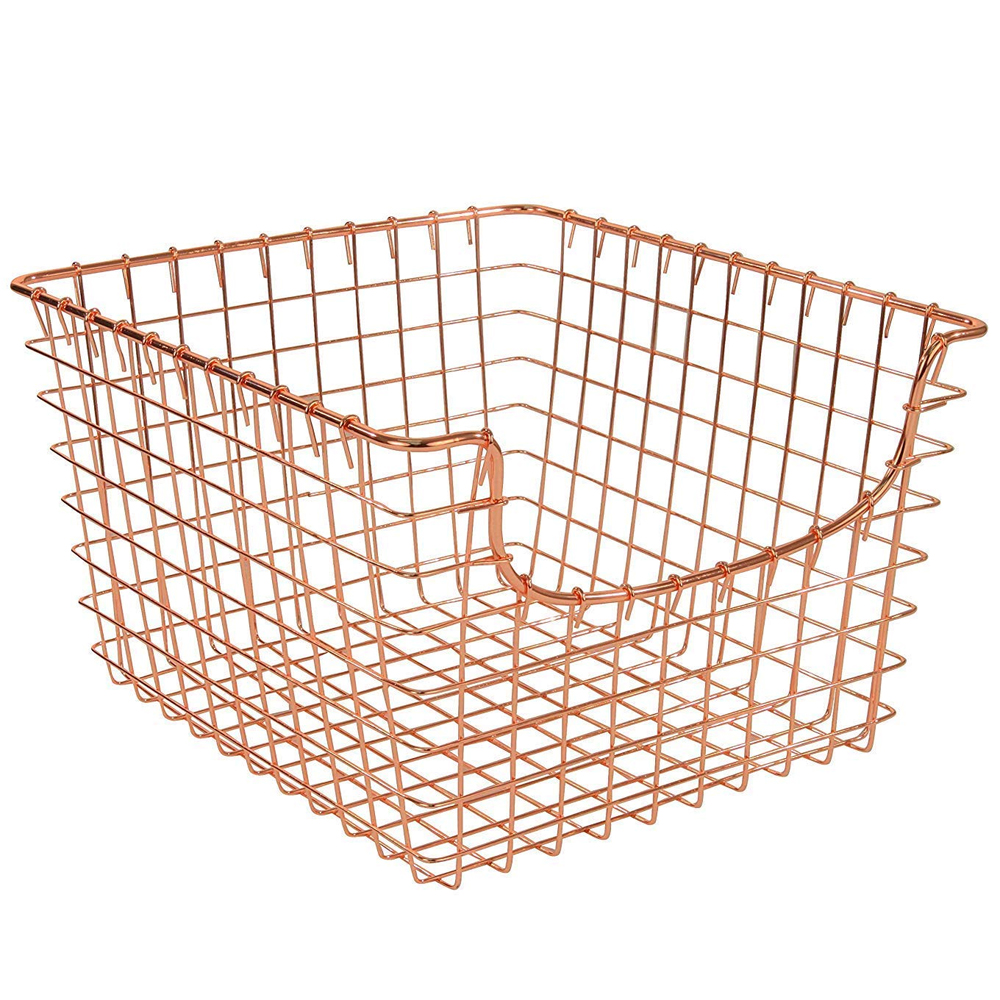 wire basket copper in wire baskets. Black Bedroom Furniture Sets. Home Design Ideas