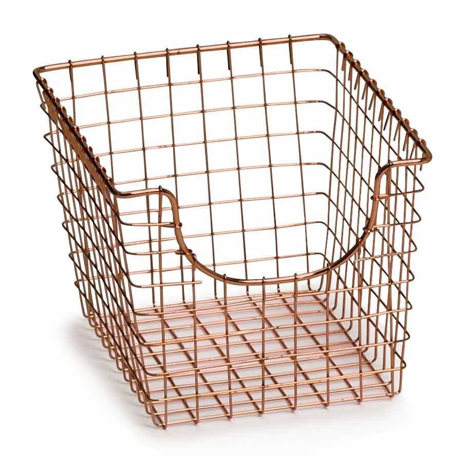 Wire Basket - Copper in Wire Baskets