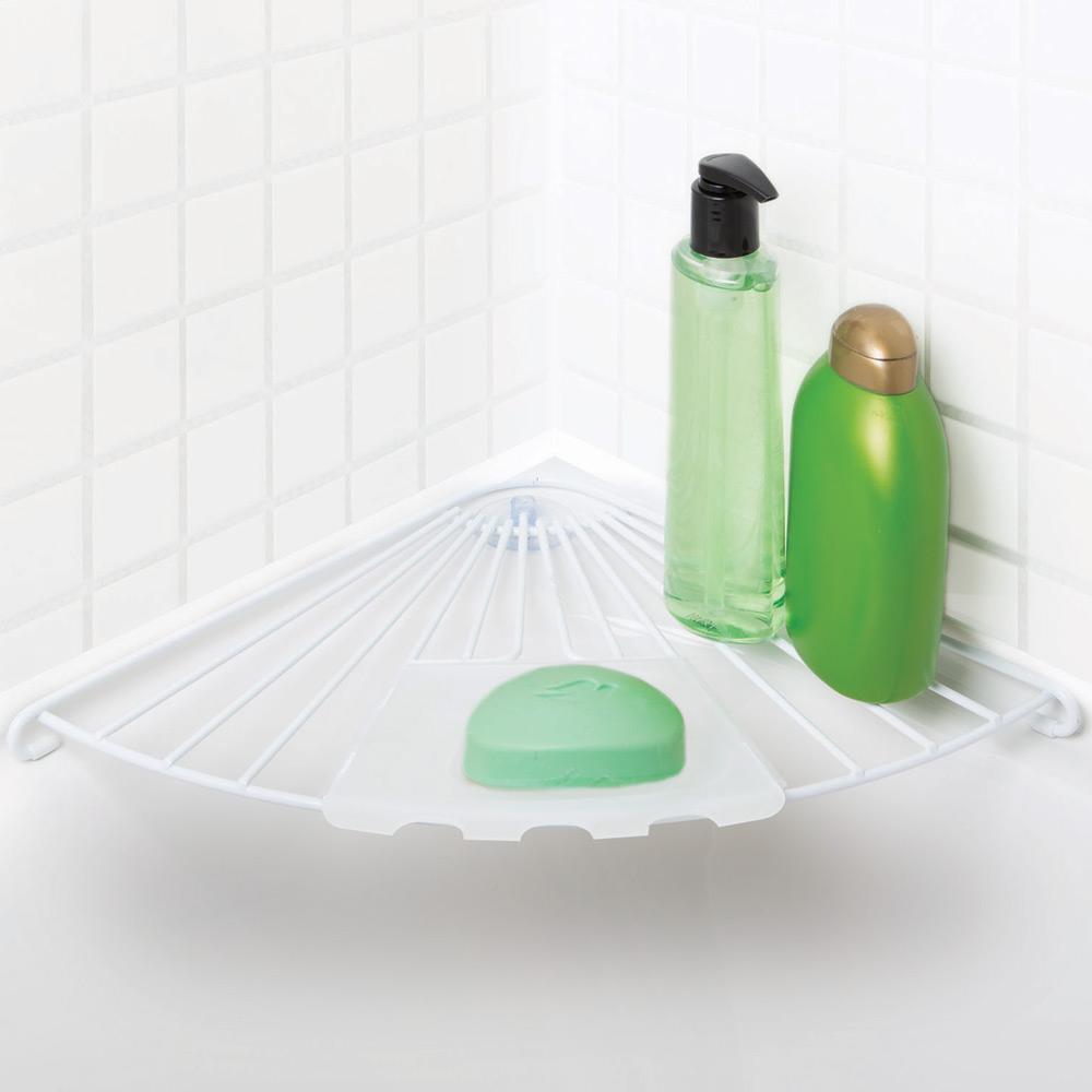 Wire Bathtub Corner Shelf in Suction Organizers