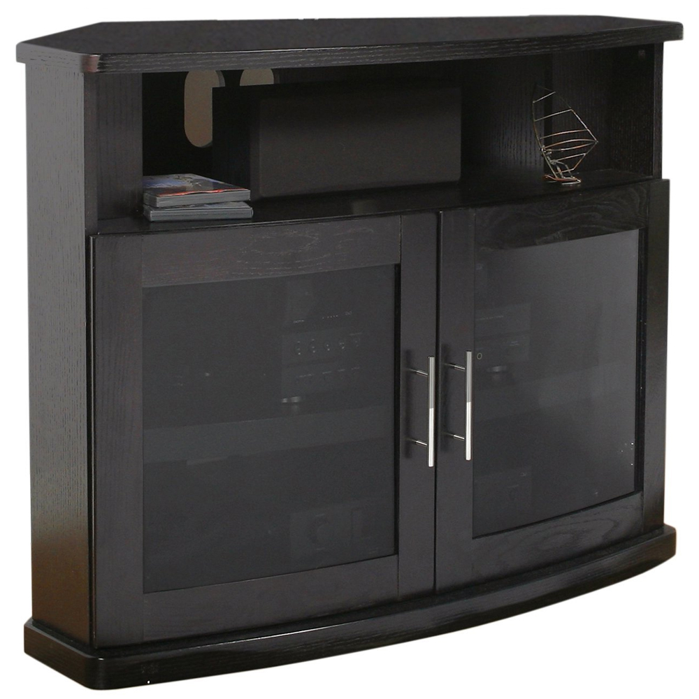 Wood Corner TV Stand In TV Stands