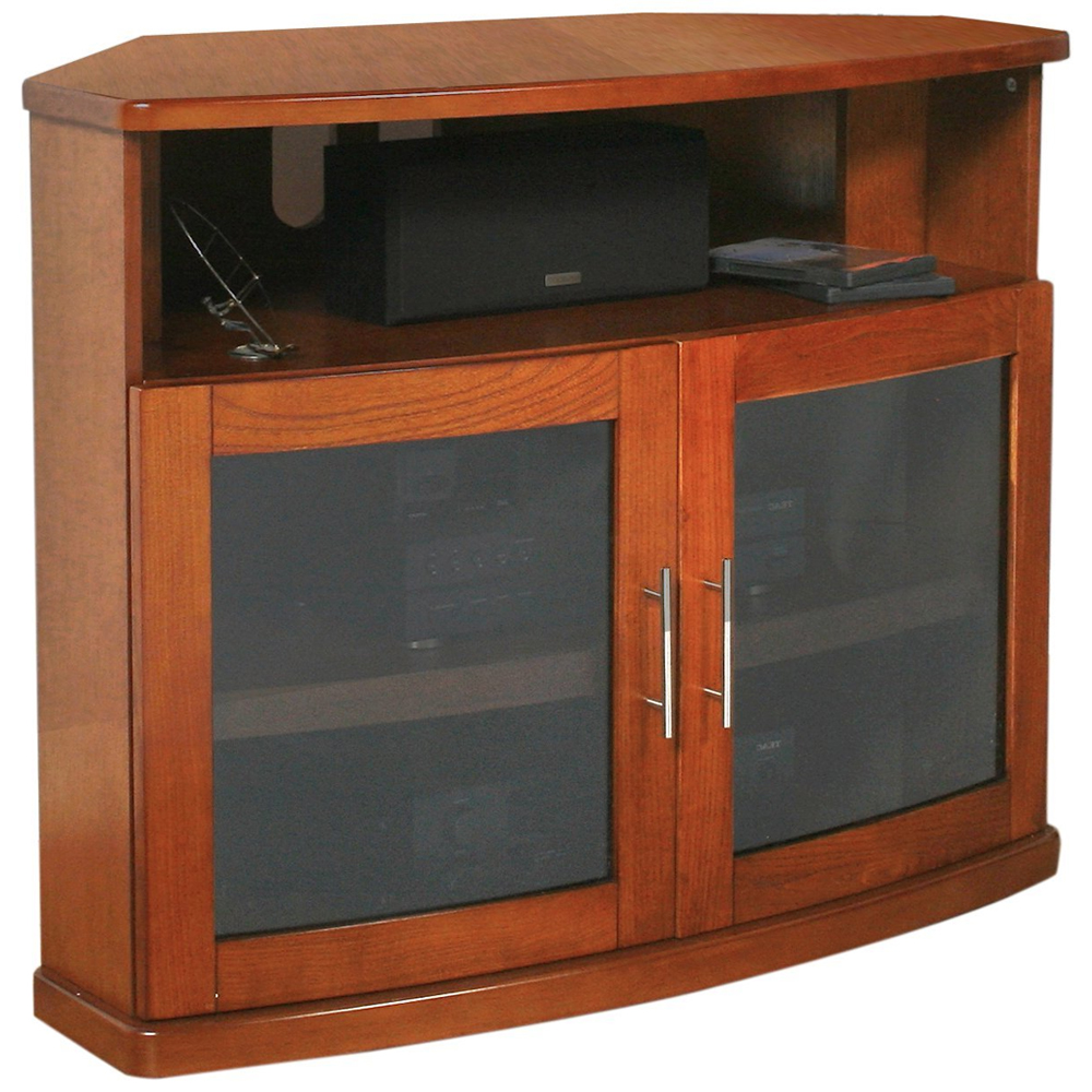 Wood corner tv stand in stands