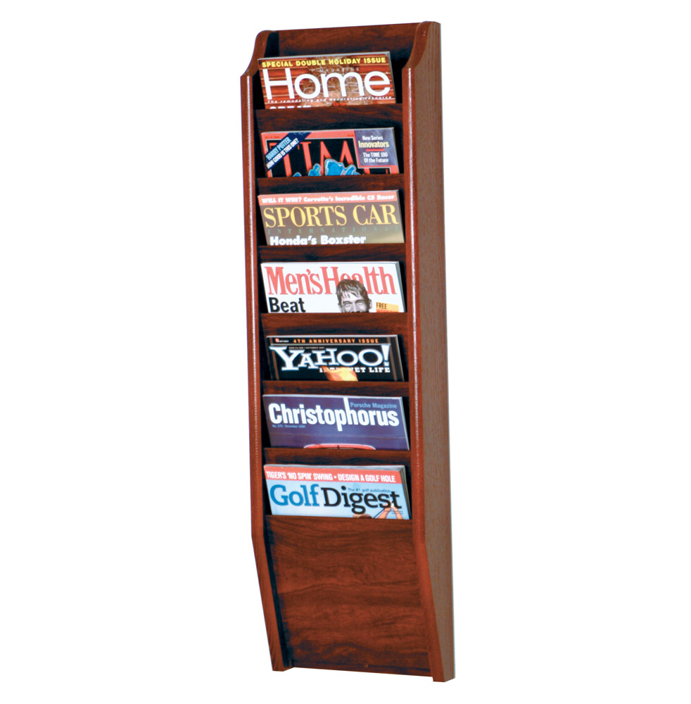 Wood Magazine Rack ~ Wooden magazine rack pocket in wall racks